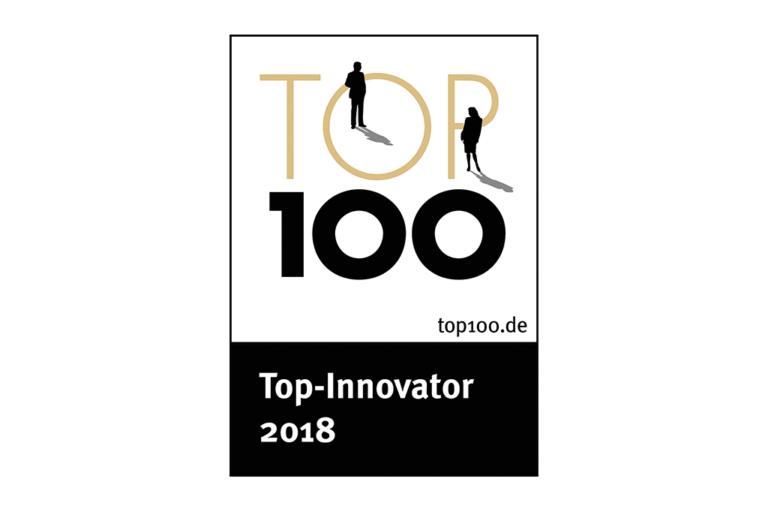 """Ocenění """"Top 100 Innovator 2018"""" pro společnost Schwank GmbH."""