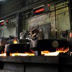 Světlý zářič primoSchwank značky Schwank v ocelárně.