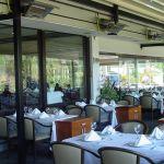 Terasový ohřívač terrasSchwank na terase restaurace.